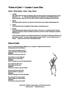 Ghost of John - Halloween Music, Poetry, and Art