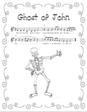 """Ghost of John"" Printable Song Sheet - Perfect for Halloween!"