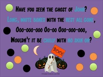 Ghost of John Halloween Writing Activity
