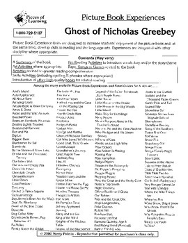 Ghost of Nicholas Greebe Literature Guide