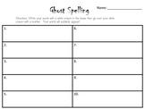 Ghost spelling recording sheet