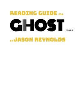 Ghost (track) by Jason Reynolds Reading Guide