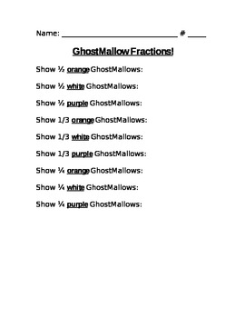 GhostMallow Fraction Fun With Marshmallows