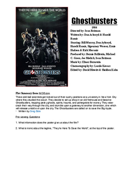 Ghostbusters Film Guide