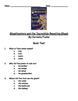 Ghosthunters and the Incredibly Revolting Ghost by Cornelia Funke Book Test