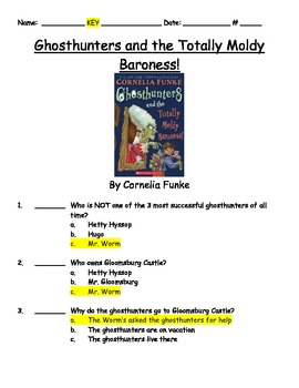 Ghosthunters and the Totally Moldy Baroness by Cornelia Funke Book Test