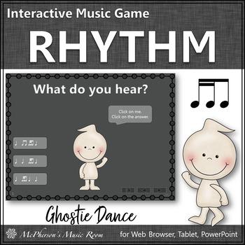 Rhythm 2 sixteenths/1 eighth - Ghostie Dance Interactive Music Game (tiri-ti)