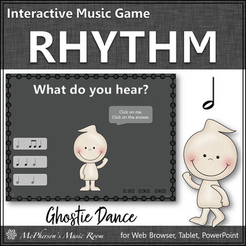 Fall Music Game: Half Notes Interactive Rhythm Game {Ghostie}
