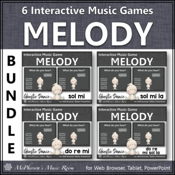 Ghostie Dance Interactive Melody Games {Bundle}