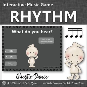 Rhythm Sixteenth Notes - Ghostie Dance Interactive Music Game (tiri-tiri)