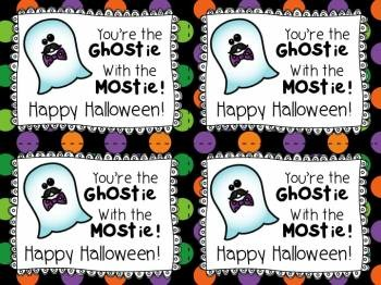 Halloween Ghostie with the Mostie:  Halloween Cards and Ghostie Grams