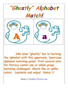 """Ghostly"" Alphabet Match!"