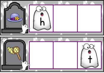 Ghostly CVC Word Work