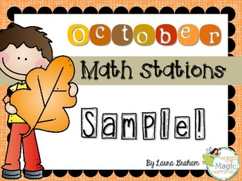 Ghostly Fact families October Math Stations Sample