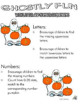Ghostly Fun with Letter and Number Sequencing