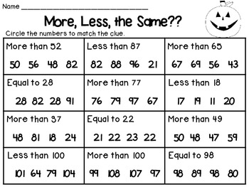 Ghostly Greater, Less, or Equal & More, Less & the Same