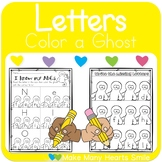 Ghostly Letter Recognition Worksheets