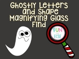 Ghostly Letters and Shapes Magnifying Glass Find