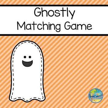Ghostly Matching File Folder Game