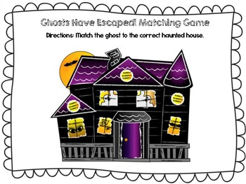 Ghostly Math Activities