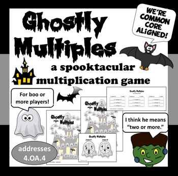 Ghostly Multiples - multiples math game – Halloween theme