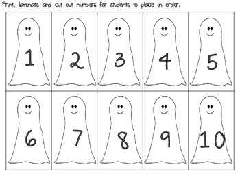 Ghostly Number Order 1-10