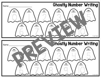 Ghostly Numbers Counting and Writing 0-20