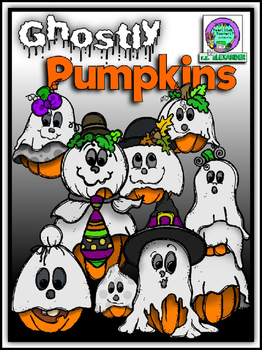 Ghostly Pumpkins Clipart