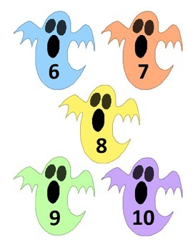 Ghostly Related Addition Facts 0-10: File Folder Activity