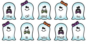 Ghostly Sight Words