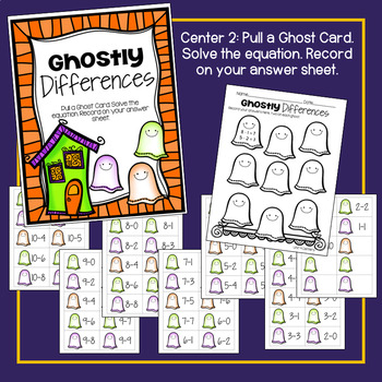 Ghostly Sums and Differences Math Center!