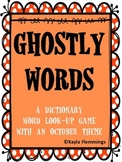 Ghostly Words- A Dictionary Game