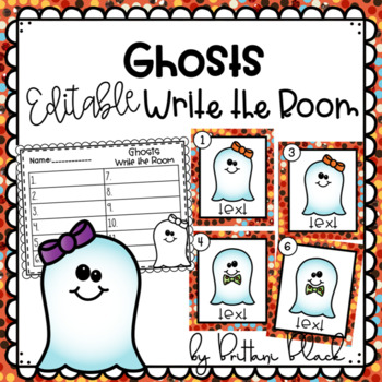 Ghosts~ Editable Write the Room