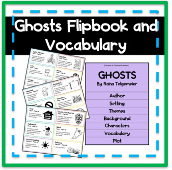 Ghosts Flipbook and Vocabulary Cards