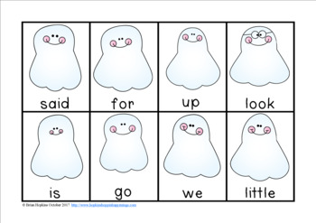 Ghosts Sight Word Race