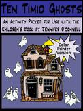 Ghost Activities: Ten Timid Ghosts Halloween Activity Packet - Color