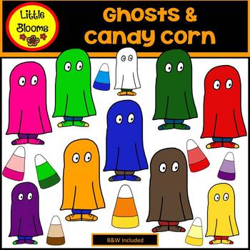 Ghosts and Candy Corn Clip Art (FREEBIE!)