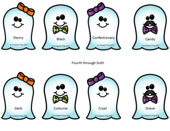 Synonyms: Ghosts and Ghouls