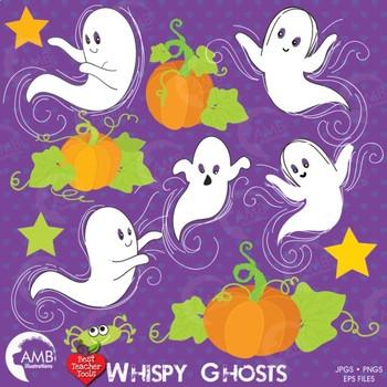 Halloween Ghosts and Pumpkin pack,  digital clipart AMB-142