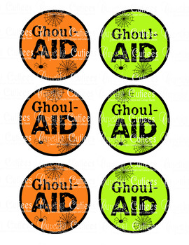Ghoul Aid - Juice Box  Label Hand out Classroom Party Digital Printable