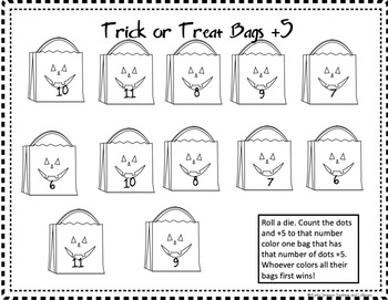 Halloween Kindergarten Math Game Number Recognition and Addition
