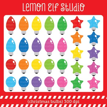 Ghristmas Bulbs-Digital Clipart (LES.CL52)