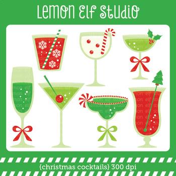 Ghristmas Cocktails-Digital Clipart (LES.CL53)