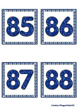 120 Chart GIANT {Blue Glitter}