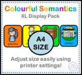 Giant A4 Colourful Semantics display cards