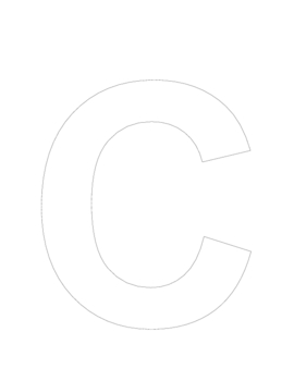 Giant Alphabet Letters for Coloring, Cutting and Pasting