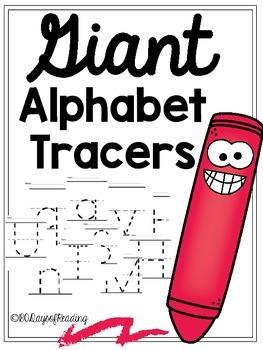 Giant Alphabet Tracers {Handwriting Practice} **FREE**