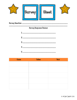 Giant Bar Graph Project with Lesson Plan