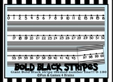 Giant Black and Bold Stripes Themed number line 0-100