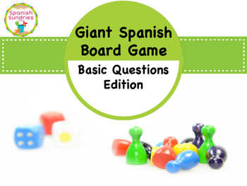 Giant Board Game - Basic Spanish Questions